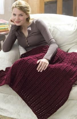 Crochet One-Skein Lap Throw Crochet Pattern