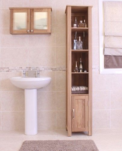 This Mobel Oak Open Bathroom Unit Tall Is A Part Of And Great