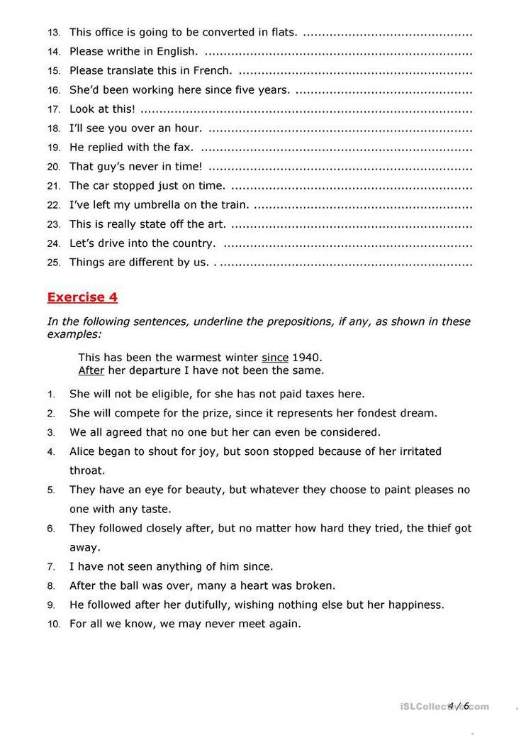 Prepositions worksheet Free ESL printable worksheets