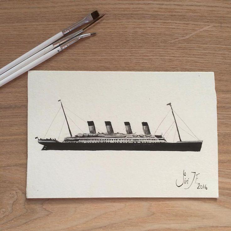 Titanic painting drawing