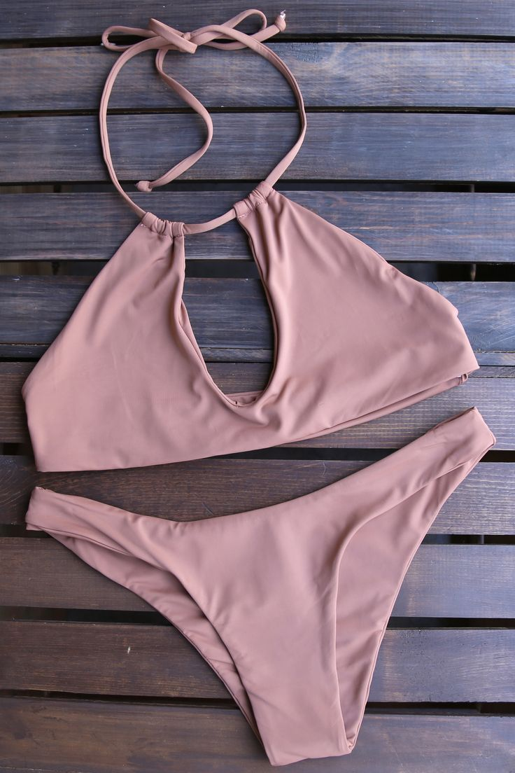 - made with love, in the USA - buttery soft! - Beautiful color - self lined bikini - unpadded - seamless key hole top - cheeky seamless bottom