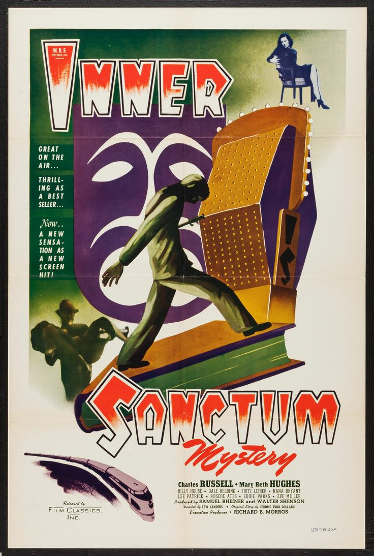 """Inner Sanctum (Film Classics, Inc., 1948). One Sheet (27"""" X 41""""). Mystery. Starring Charles Russell, Mary Beth Hughes, Dale Belding, Billy H..."""