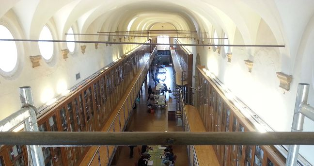 Indagini dinamiche per rilevare lo stato tensionale su dei tiranti in acciaio all'interno del Dipartimento di Storia Culture Civiltà – DiSCi Bologna.