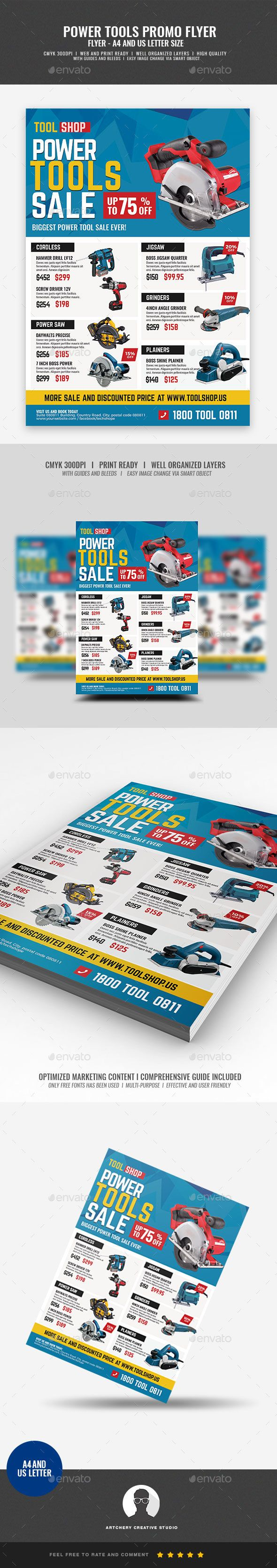 Power Tools Sale Flyer Template PSD