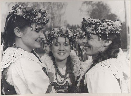 Folk costumes from Bytom, Silesia region, Poland, 1988.