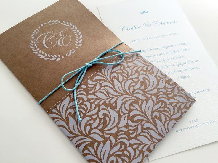 Convite para casamento rústico por Patrícia Koeler - Foto Divulgação
