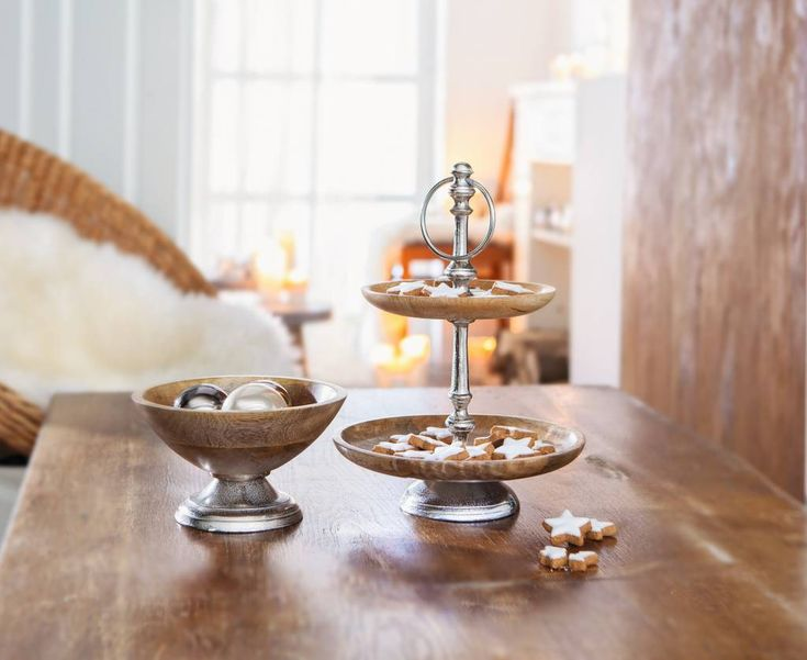 etagere holz alu weihnachten mango table und candles. Black Bedroom Furniture Sets. Home Design Ideas