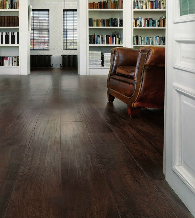 Dark Oak Luxury Vinyl Plank Flooring - © Karndean