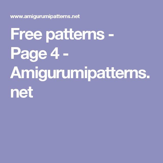 Free patterns - Page 4 - Amigurumipatterns.net