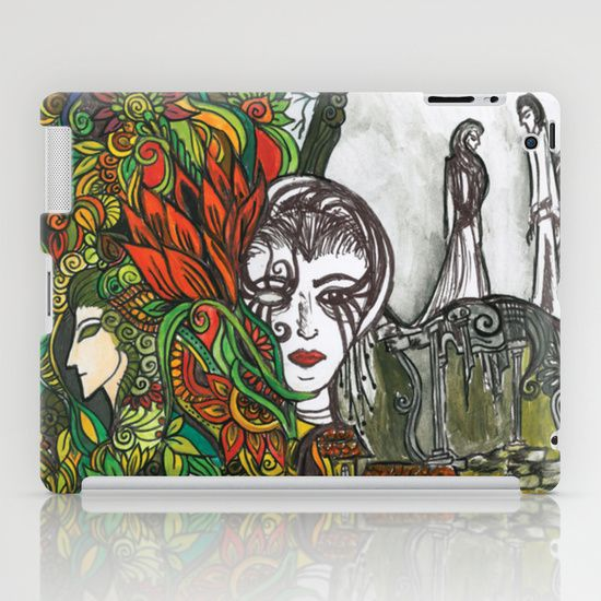 #daydream #fantasy #illusion #floral #design  Protect your iPad (2nd, 3rd, 4th Gen) with a one-piece, impact resistant hard shell case featuring an extremely slim profile. The lay-flat feature protects the front of your iPad by extending the bezel above the screen. Compatible with the Apple iPad Smart Cover.