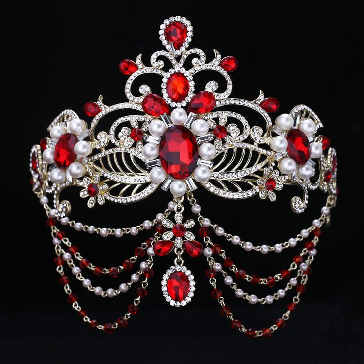 Goedkope Rode kristal bruid haar accessoire bruiloft bridal tiara en kroon voor koop strass optocht kronen hoofd sieraden haar ornament, koop Kwaliteit haar sieraden rechtstreeks van Leveranciers van China:    het lezen van de koper Je kunt mixen het ontwerp dat u wilt van onze winkel. verz