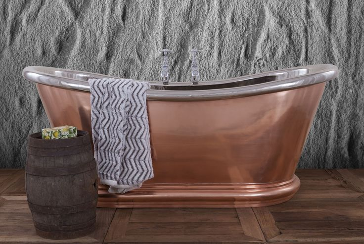 Delight and relax in sophisticated, timeless copper... The Bulle is the perfect arrangement of traditional materials emphasised with stunning modern design that boasts curves aplenty! #Copper #Luxury #Baths #Bathrooms #DreamHouse #Relax #Spa