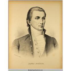 James Monroe 1758 - 1831 Historical Print