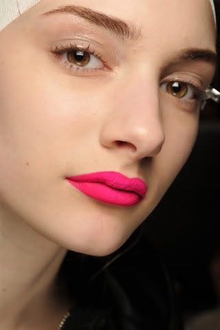 i love a bold lip... especially if it's fuschia