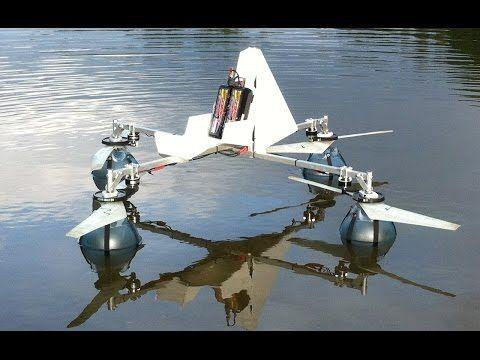 Efficient propeller / amphibious quadcopter build