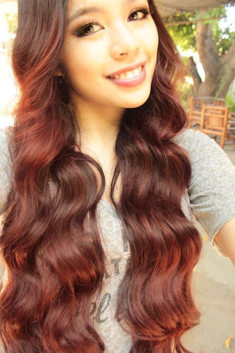 24 Inch Double Wefted Full Head Remy Clip in Human Hair Extensions – Light Auburn (#30)