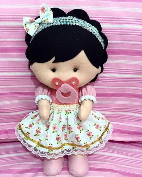 Baby felt doll