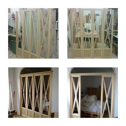 Puerta en madera de pino radiata