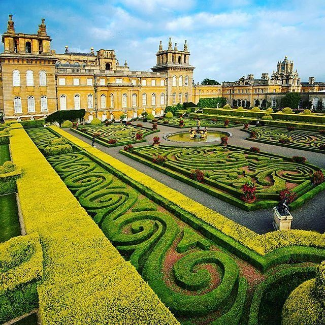 The Italian Garden at Blenheim Palace