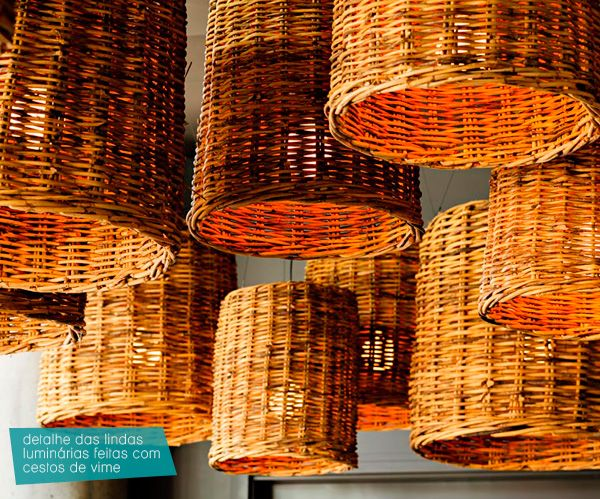 basket lamps.  cool idea for a cabana or patio. I used to have a couple of lampshades like this back in the 70's.  :)