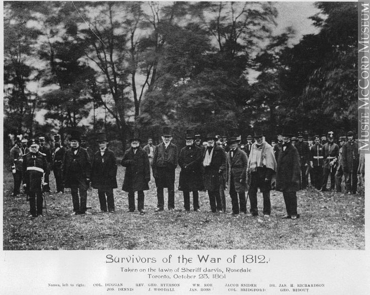 Musée McCord Museum - Survivors of the War of 1812, Sheriff Jarvis' lawn, Rosedale, Toronto, ON, 1861