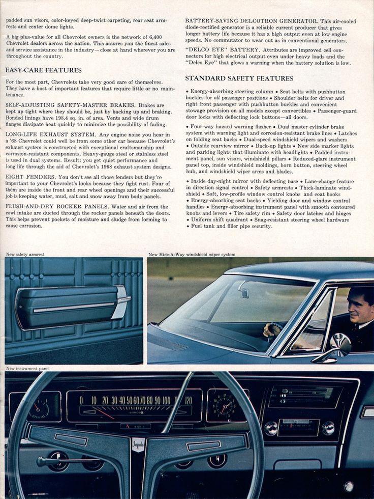GM 1968 Chevrolet Sales Brochure Chevrolet Impala 1968 - sales brochure
