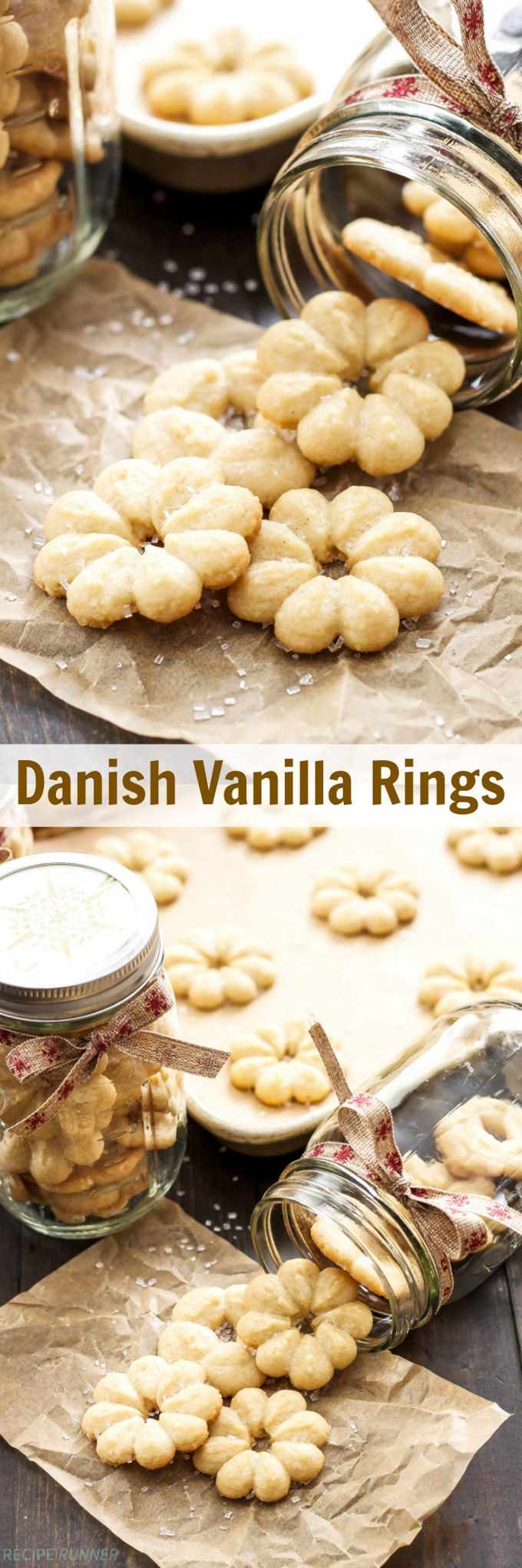 Danish Vanilla Rings | These traditional Danish Christmas cookies are crisp, buttery and so delicious!