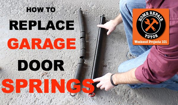 Spot and Replace Bad Garage Door Extension Springs - So. You think your garage door is safe.   I did too until an extension spring almost took my head off.   Th…