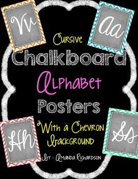 Use these Alphabet Posters in various ways in your classroom! Line them up to create an alphabet strip or print them in various way to use them as flash cards, in a work station, or as elements on anchor charts! Includes all 26 letters and printing ideas.