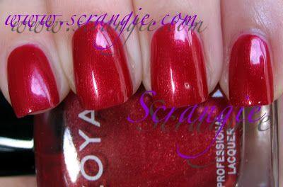 Scrangie: More random Zoya swatches- Sheers, nudes, reds/berries // Isabel