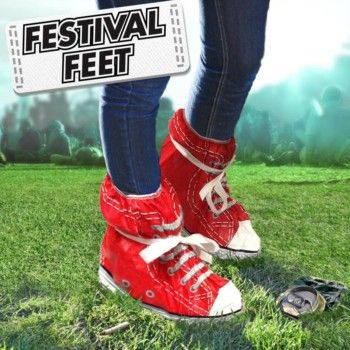 Festival Feet - a funky way to keep your toes dry