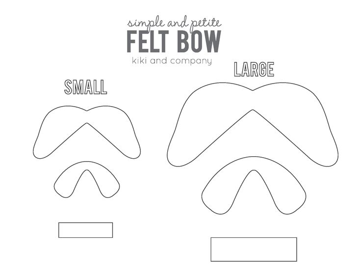 felt bow tie template - simple and petite bow template for the love of bows