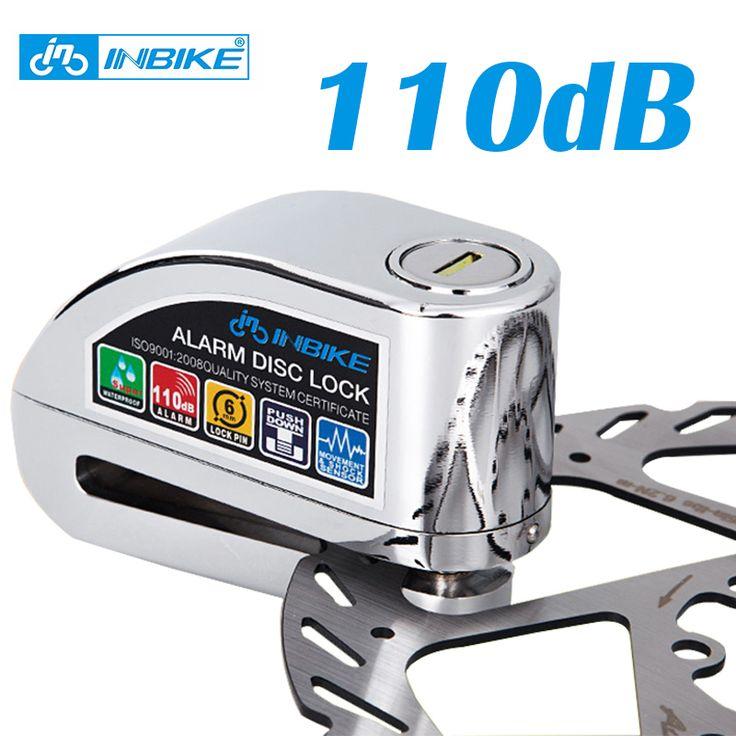 Sepeda disc brake lock keamanan 110 db alarm keras keamanan alarm sepeda motor kunci anti-pencurian kunci sepeda Tahan Air