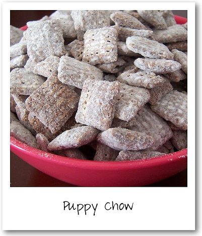appetizers :)Muddy Buddies, Puppy Chow, Puppychow, Food, Puppy'S, Chex Mixed, Puppies Chow Recipe, Peanut Butter, Muddy Buddy