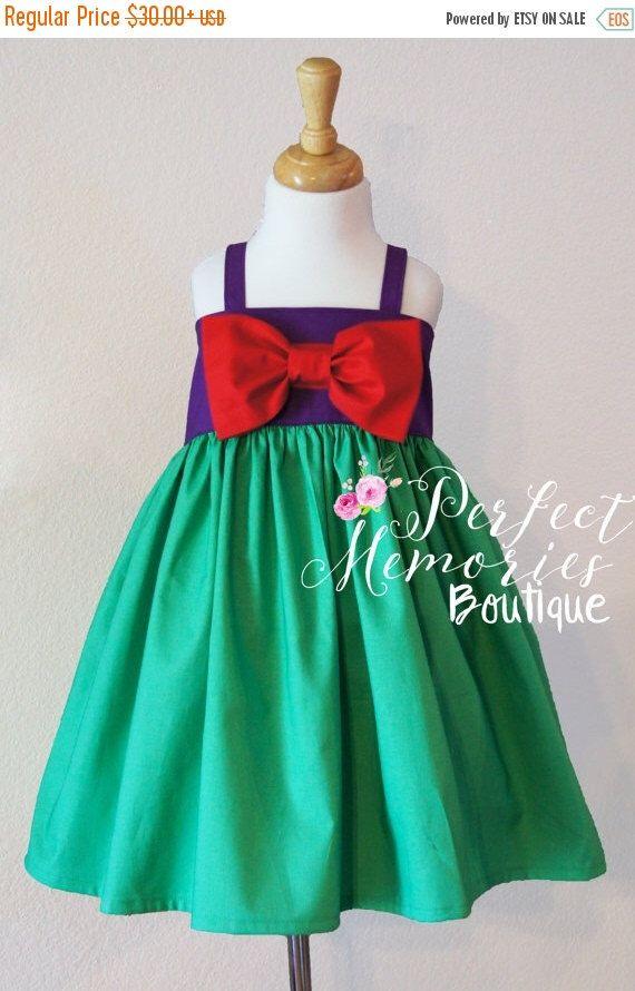 SALE Little Mermaid Dress | Ariel Dress | Girls Mermaid Dress | Toddler Mermaid Dress | Little Mermaid Birthday Party | Baby Mermaid | Merma by ThePMB on Etsy https://www.etsy.com/listing/279183604/sale-little-mermaid-dress-ariel-dress