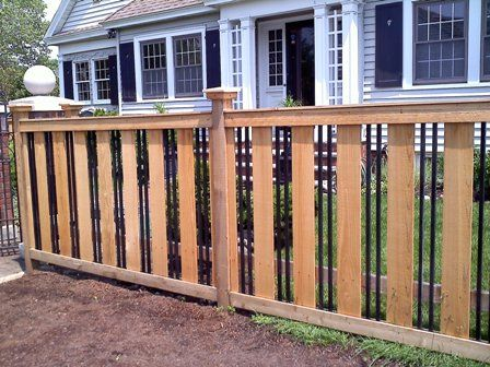 Arts and crafts style fences google search ideas for for Craftsman style fence