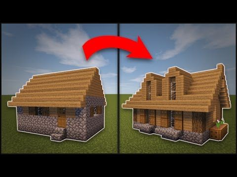 Minecraft: How To Remodel A Village Large House - YouTube