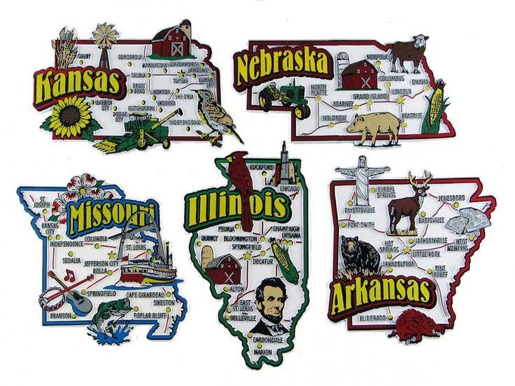 Över Bilder Om USA Souvenir Map State Magnet Sets På - Us map by state and companies
