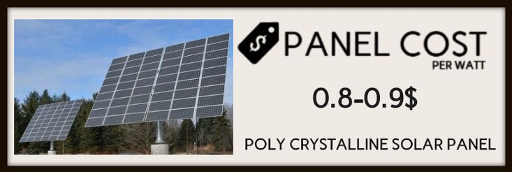 poly crystalline ( solar panels cost image-1)