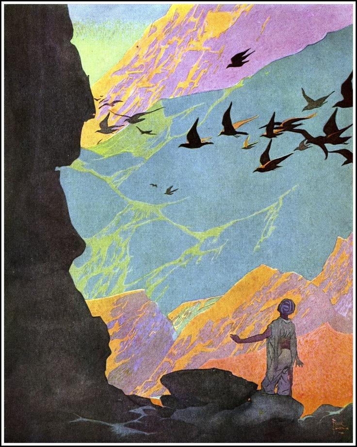 "Art by Frank Godwin (1921) from the BLUE FAIRY BOOK, ""Oh dear me."""