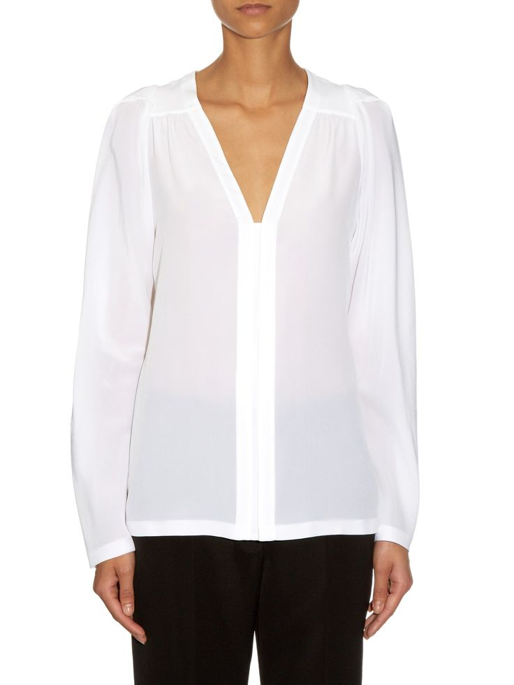 Priska V-neck silk blouse | Stella McCartney | MATCHESFASHION.COM