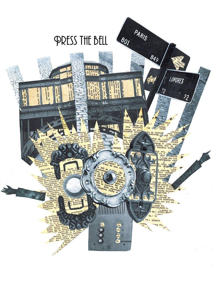 """Collage """"Barrio París y Londres"""". Diego Padilla."""