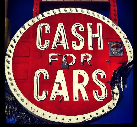 cash for cars vintage signage pinterest. Black Bedroom Furniture Sets. Home Design Ideas