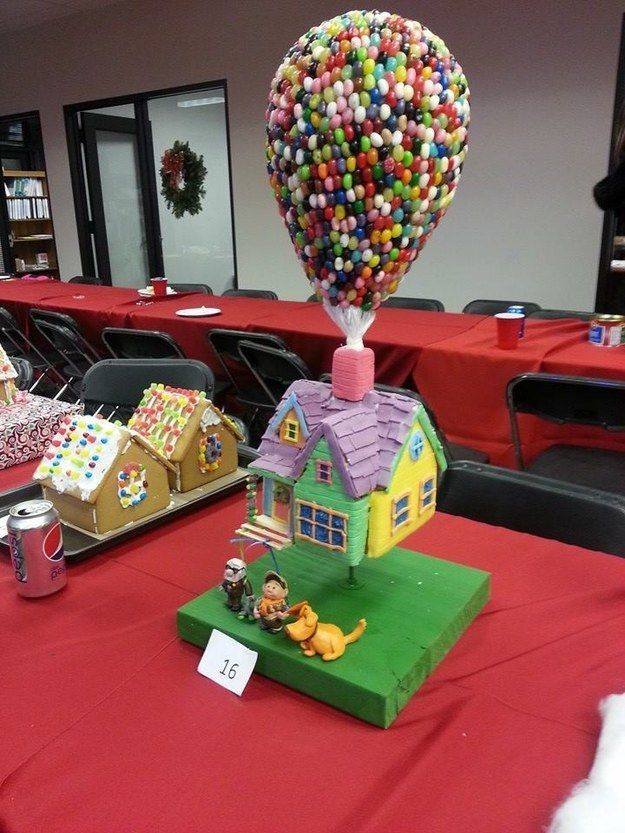 This whimsical cottage from Up. | 13 Epic Gingerbread Houses Inspired By Your Favorite Movie And TV Shows