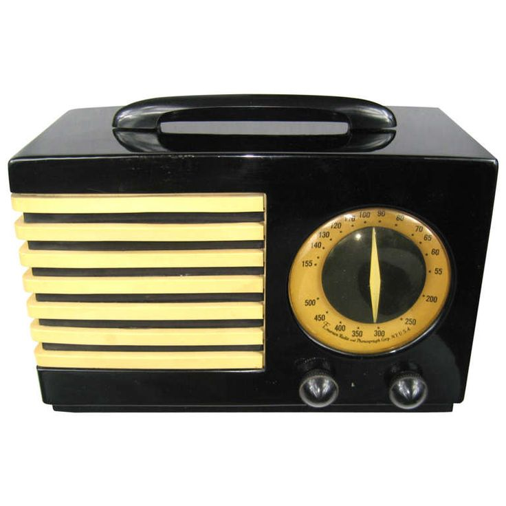 1940 Emerson 400 Aristocrat Catalin Bakelite Tube Radio Very Rare | From a unique collection of antique and modern decorative objects at http://www.1stdibs.com/furniture/more-furniture-collectibles/decorative-objects/