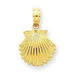 14k Scallop Shell Pendant - JewelryWeb JewelryWeb. $94.50