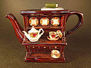 Royal Albert Cardew Large Welsh Dresser Teapot (Royal Doulton Royal Albert) at A Vintage Collectibles Showcase