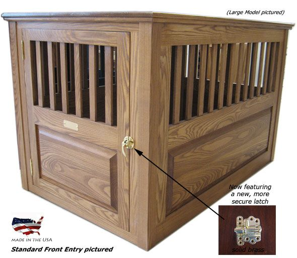 17 best images about wooden dog crate on pinterest for Best wooden dog crate