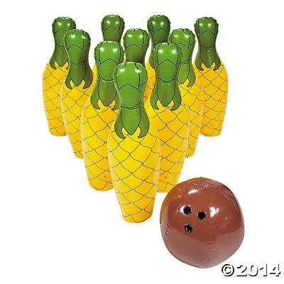 Inflatable Giant Pineapple Bowling Set $32.00   (Might be able to make something similar.)