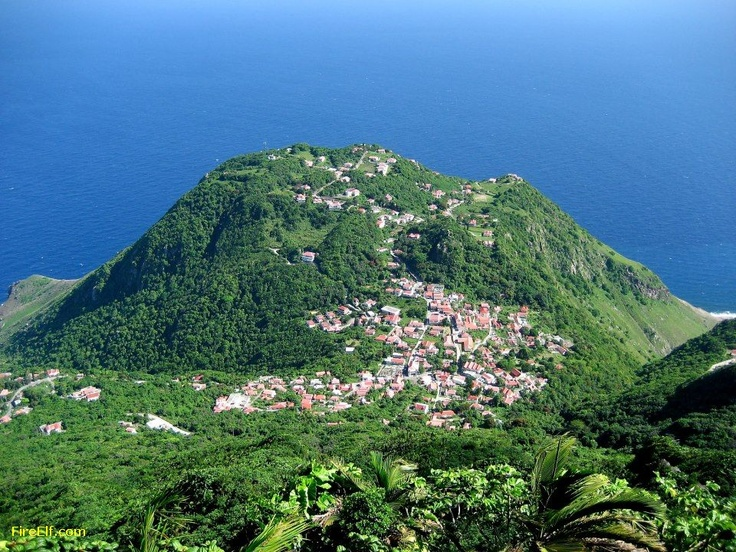 Mount Scenery Saba Island, Caribbean Netherlands 877 M, The Highest Point In Both The Kingdom Of The Netherlands And The Netherl